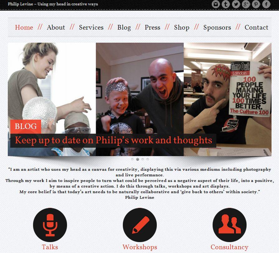 Philip Levine Front Web page